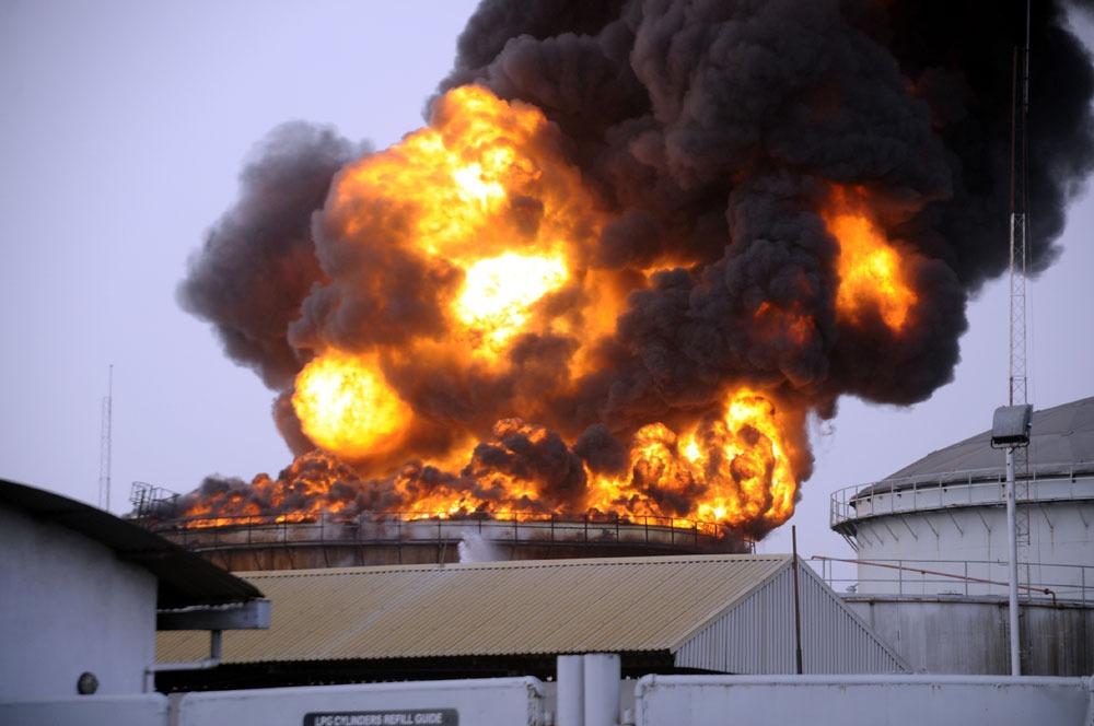 Oando tank farm gutted by fire