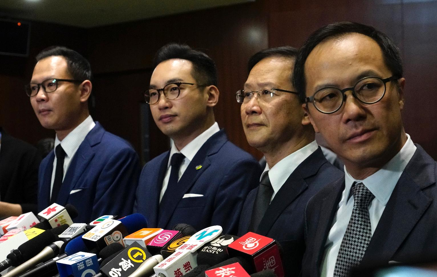 Hong Kong lawmakers' disqualification prompts mass resignation