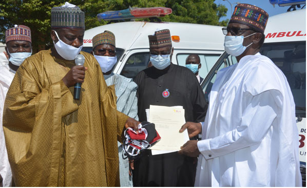 BUA donates 3 COVID-19 ambulances, 100,000 face masks to Yobe