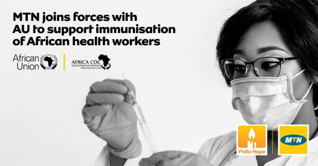 MTN partners with African Union on COVID-19 vaccinations
