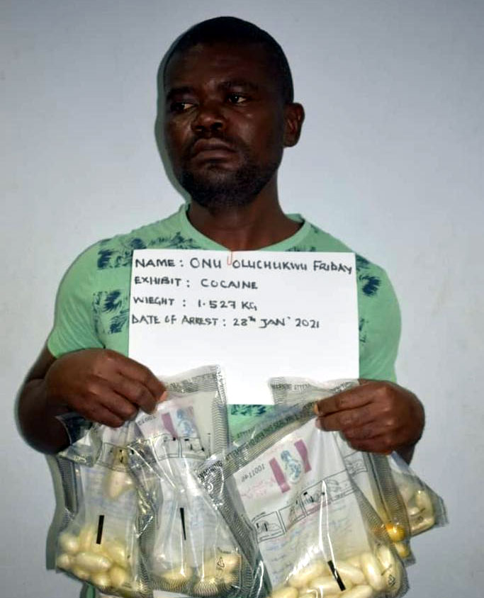 NDLEA nabs two with 3kg cocaine at Lagos, Abuja airports