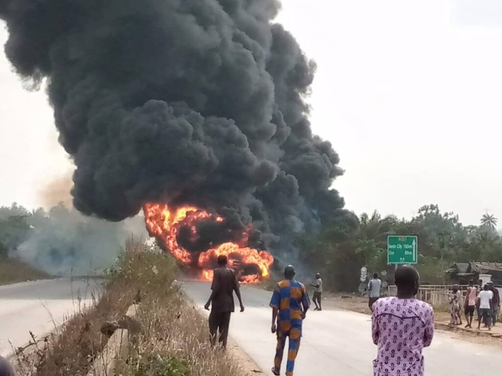 Truck driver roasted to death in Ogun accident
