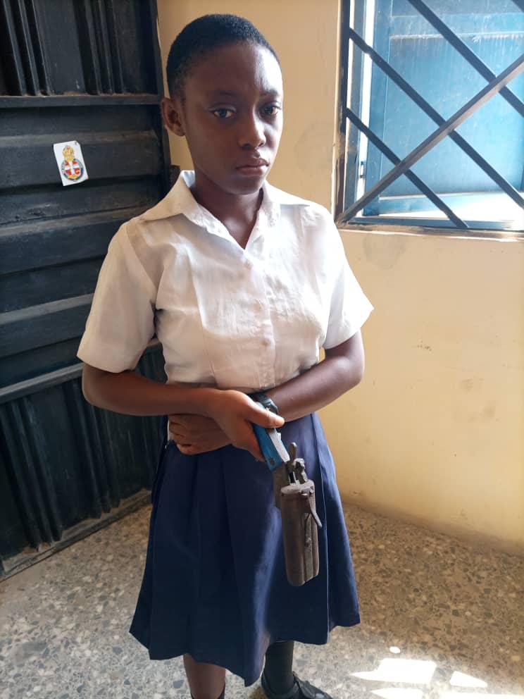 School girl, Sky Queen Confraternity