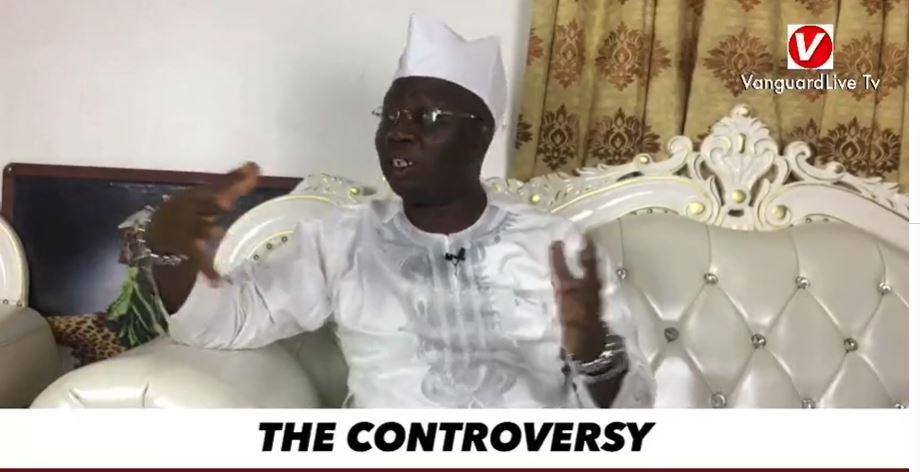 Aare Ona Kakanfo Iba Gani Adams makes some points