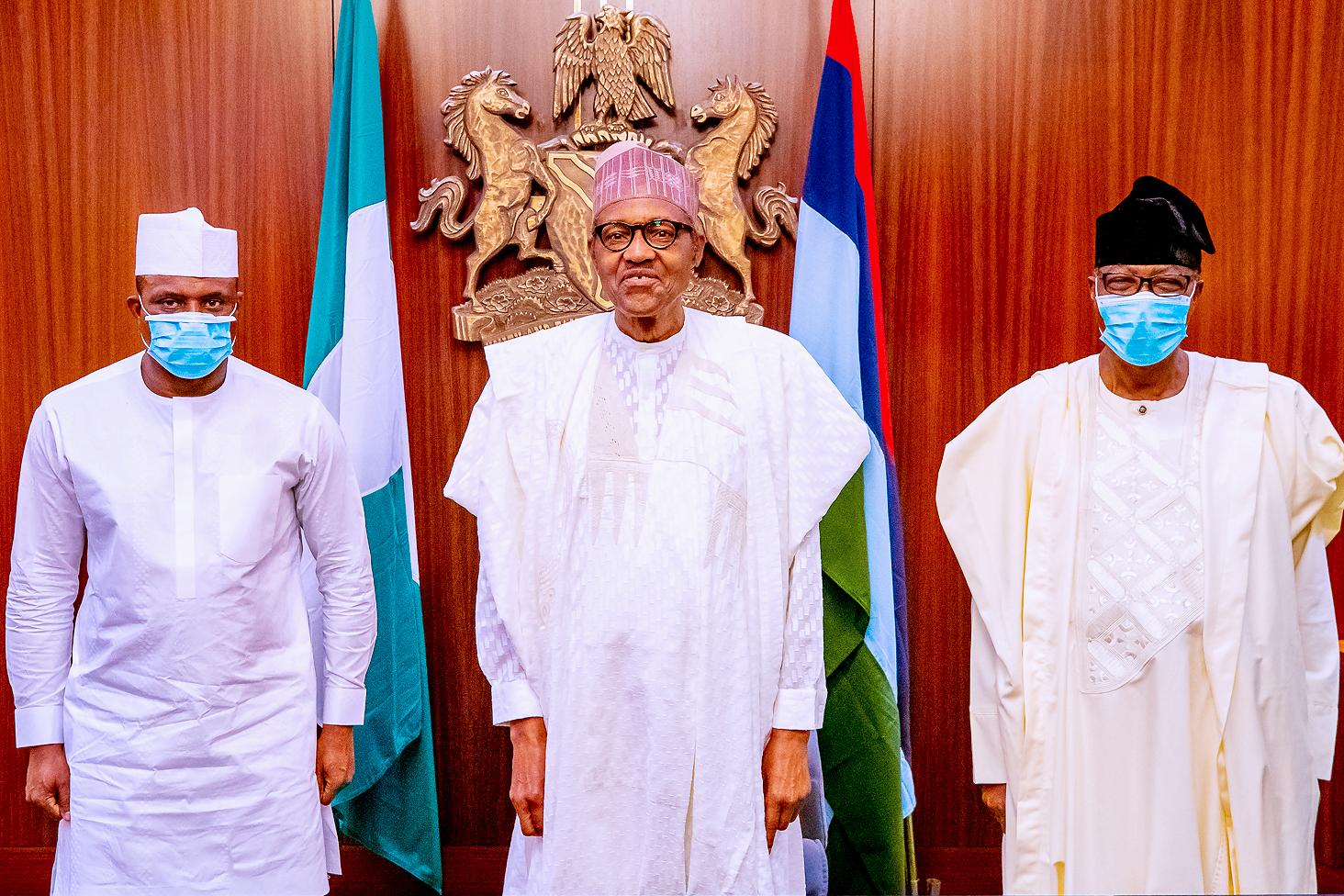 Buhari receives Bankole, Daniel new APC members in Aso Rock