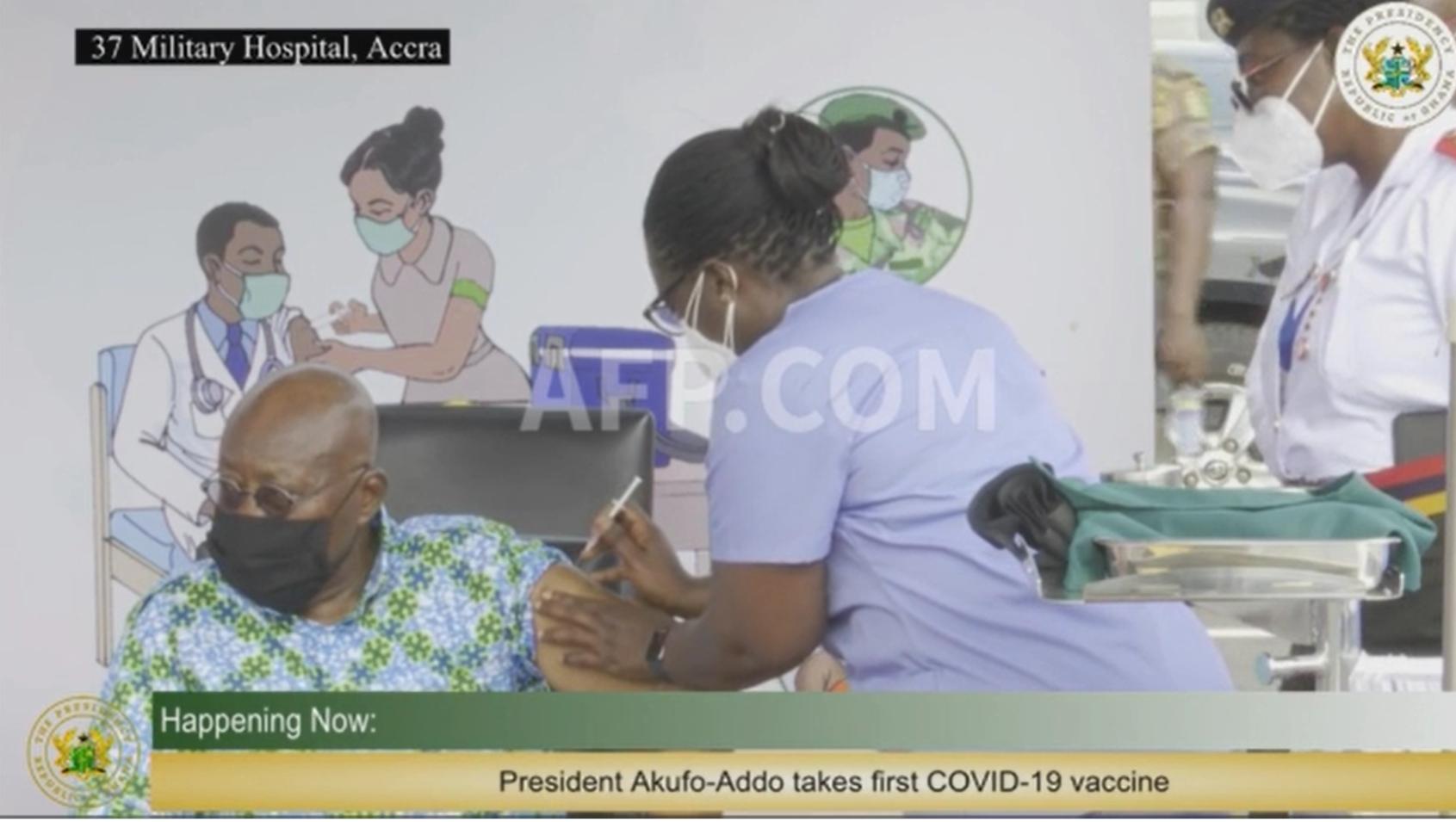 Nana Akufo-Addo, Covax jab
