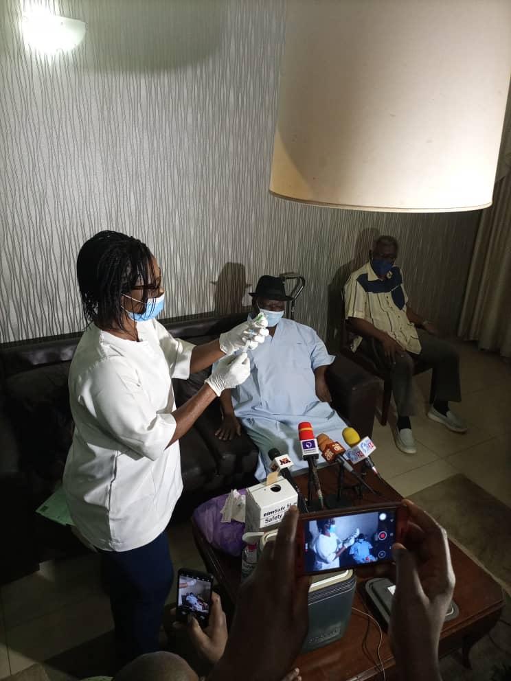 COVID-19: Edwin Clark, family members take AstraZeneca vaccine