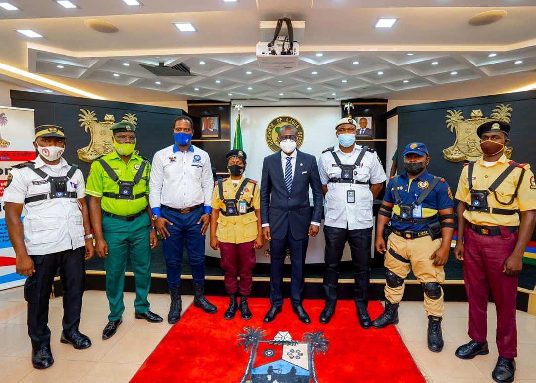 Traffic enforcement: Sanwo-Olu unveils body worn camera gadgets for law enforcement officers