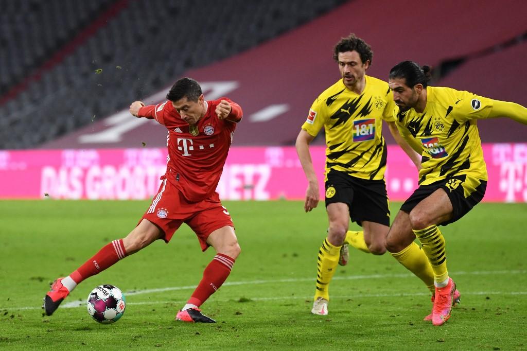 Lewandowski, Bayern vs Dortmund