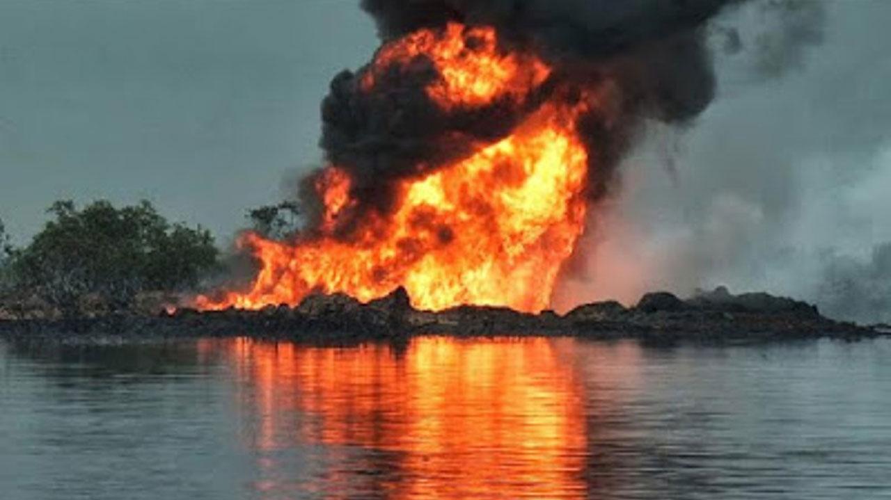 Suspected militants set ablaze Agip oil pipelines in Bayelsa community