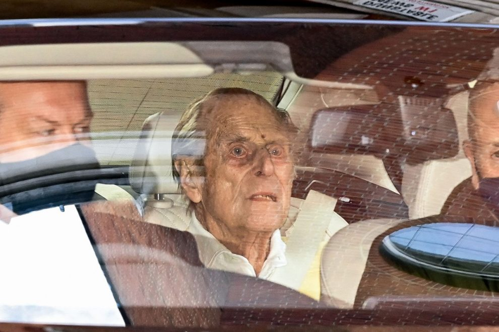 Britain's Prince Philip leaves hospital after one month