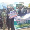 PHOTOS: NBA Kaduna chapter embarks on judicial autonomy protest