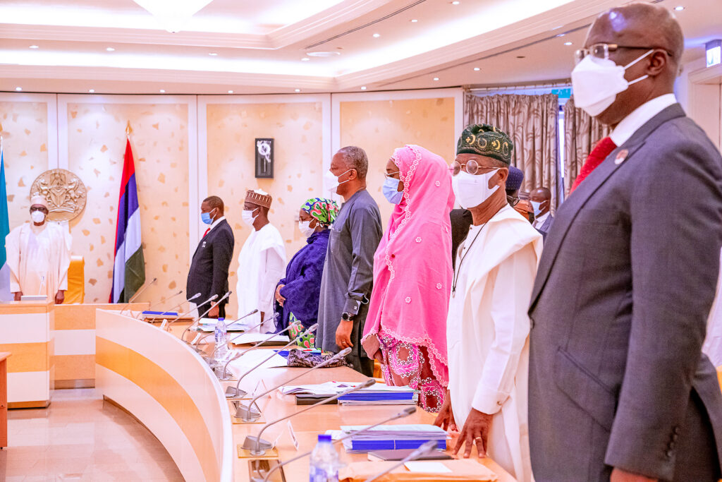 Buhari presides over FEC at First Lady Conference Hall