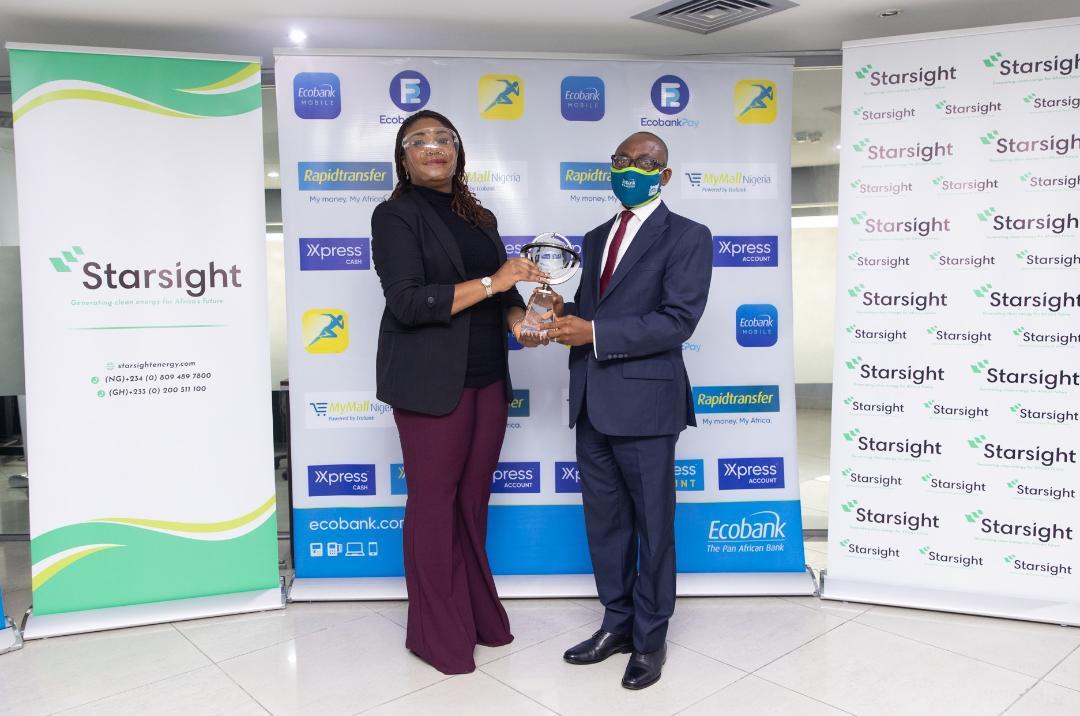 Starsight presents Sustainability Award to Ecobank