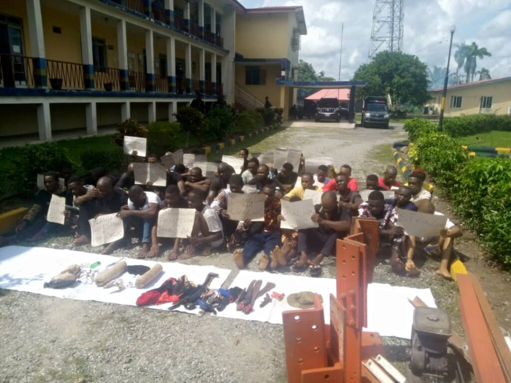 C'River: Police parade two Cameroonians for alleged illegal arms dealing, 38 others