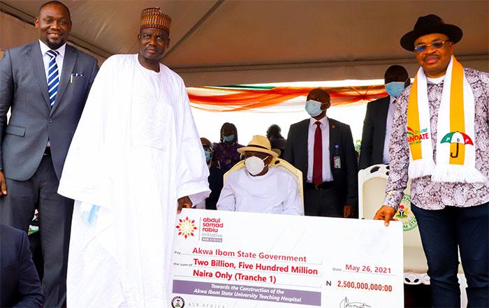 N5bn Grant: Abdul Samad Rabiu Africa Initiative begins construction of Akwa Ibom Varsity Teaching Hospital