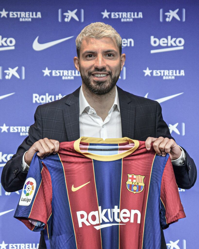 Barca complete signing of Man City legend, Sergio Aguero