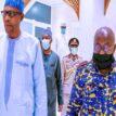 Buhari meets Ghanaian President, Akufo-Addo, at Aso Villa